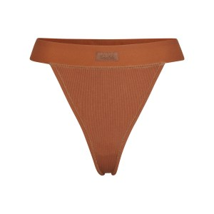 SKIMS Soft Lounge Thong Panties - COPPER - Size 4XL