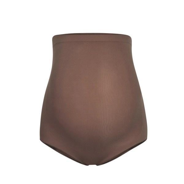SKIMS Women's Maternity Sculpting High Waist Brief Panties - Brown - Size 4XL/5XL