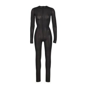 SKIMS Power Mesh Catsuit - Black - Size 4XL