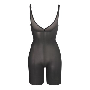 SKIMS Mesh Sheer Sculpt Bodysuit Shapewear - Black - Size XXS