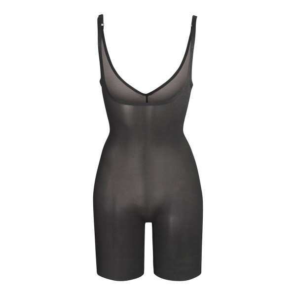 SKIMS Mesh Sheer Sculpt Bodysuit Shapewear - Black - Size 4XL