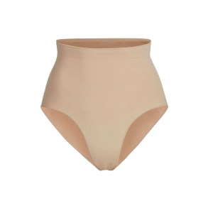 SKIMS Women's Sculpting Mid Waist Brief Shapewear - Nude - Size S/M