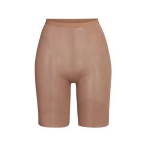 SKIMS Mesh Sheer Sculpt Short Shapewear - Nude - Size XXS