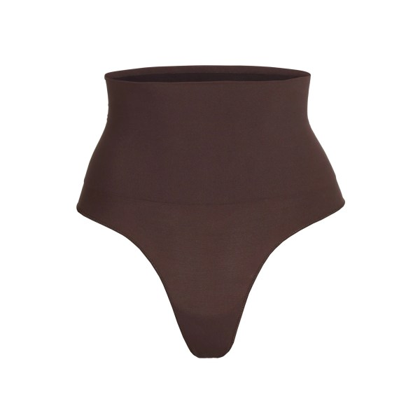 SKIMS Core Control Thong Shapewear - Brown - Size 4XL/5XL