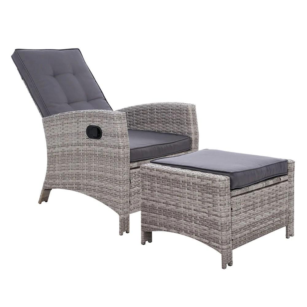 sun lounge recliner chair wicker