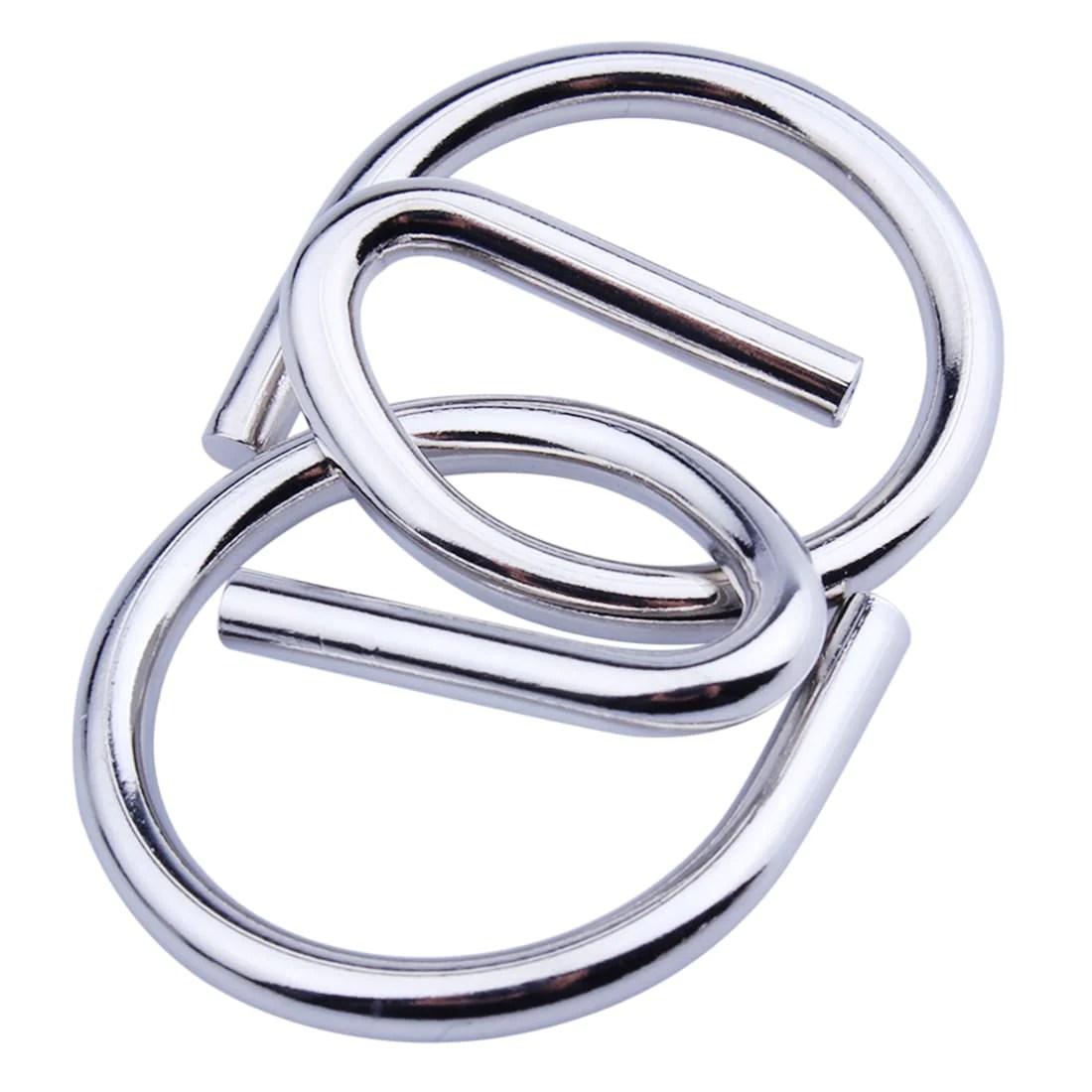 casse tete en metal anneaux lies n 9