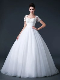 Ball Gown Debutante Dress with Short Sleeves  JoJo Shop