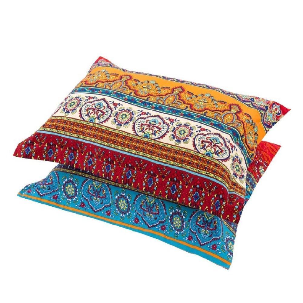 100 brushed cotton boho pillowcases