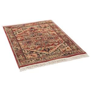 tapis oriental rouge en laine douce mazir