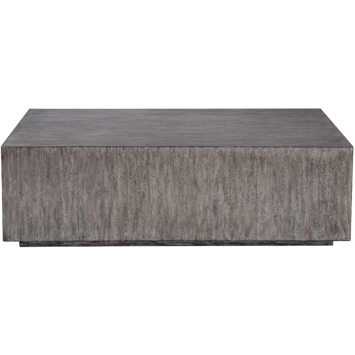 kareem metallic gray block coffee table