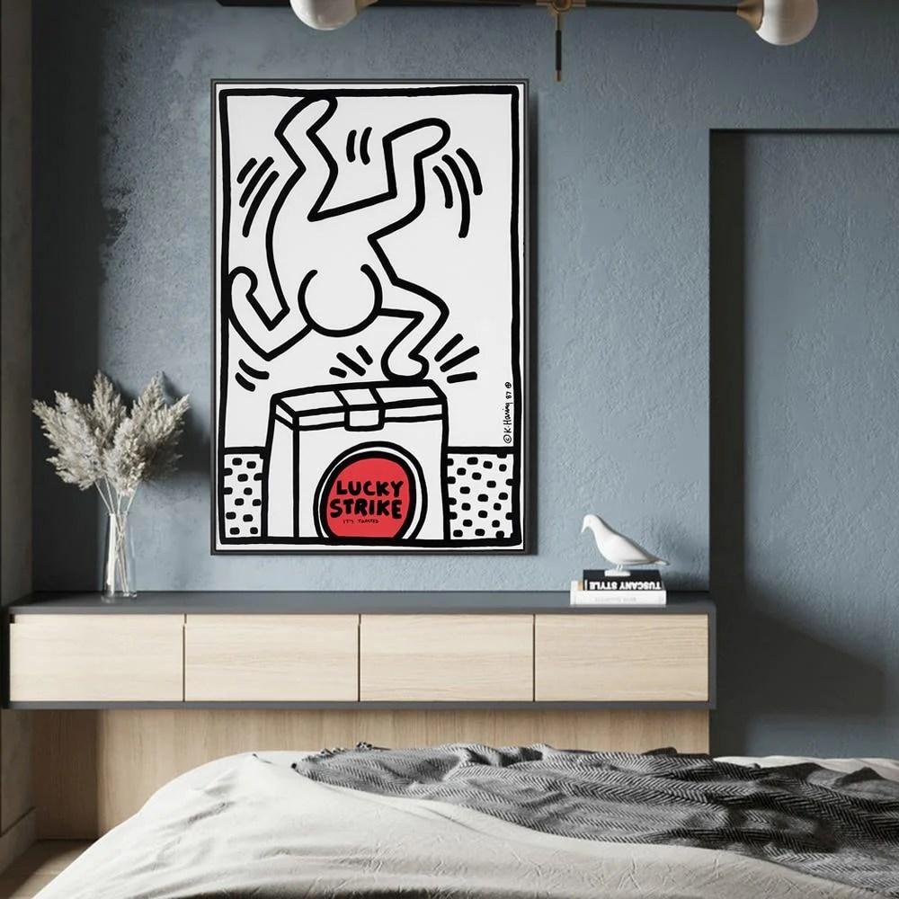 Materiale in cartone resistente plastificato lucido. Vendita Online Stampa Su Tela Con Riproduzioni D Opere Di Keith Haring Cosewow
