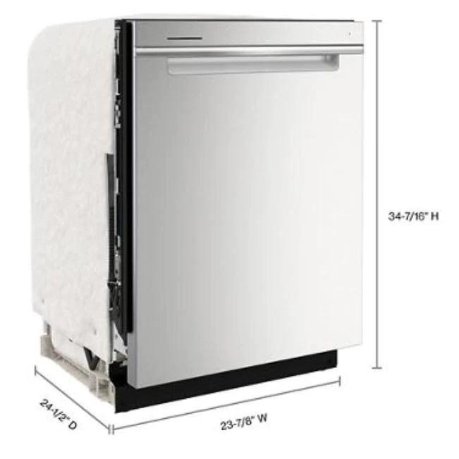 whirlpool wdta50sakz large capacity dishwasher with 3rd rack