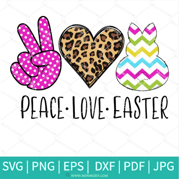 Download Peace Love Easter SVG - Easter SVG