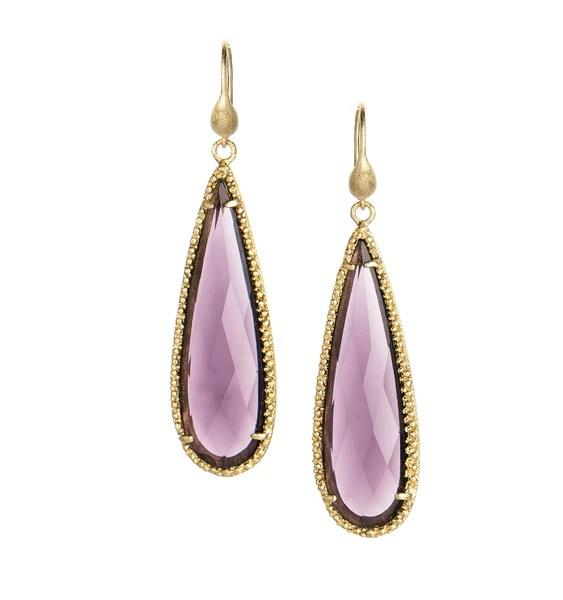 Amethyst Dangle Earrings Rivka Friedman Jewelry