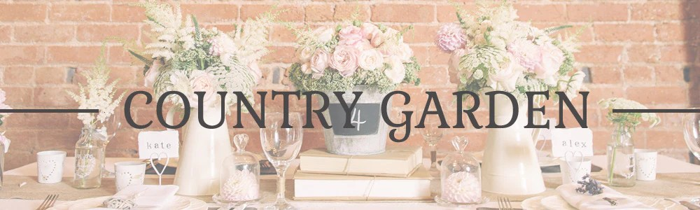 Country Garden Wedding Decorations Wedding Table Decorations For