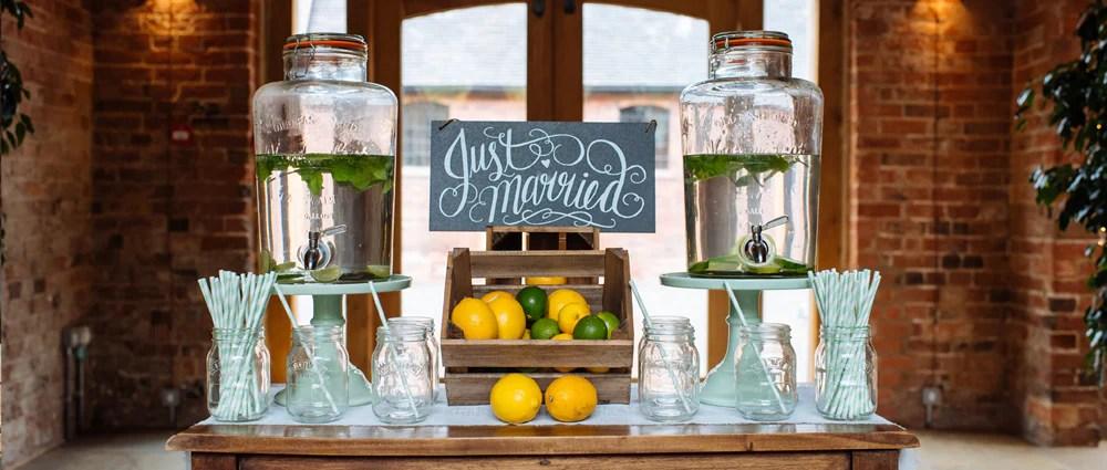Wedding Drink Stations Drinks Dispensers Mason Jars