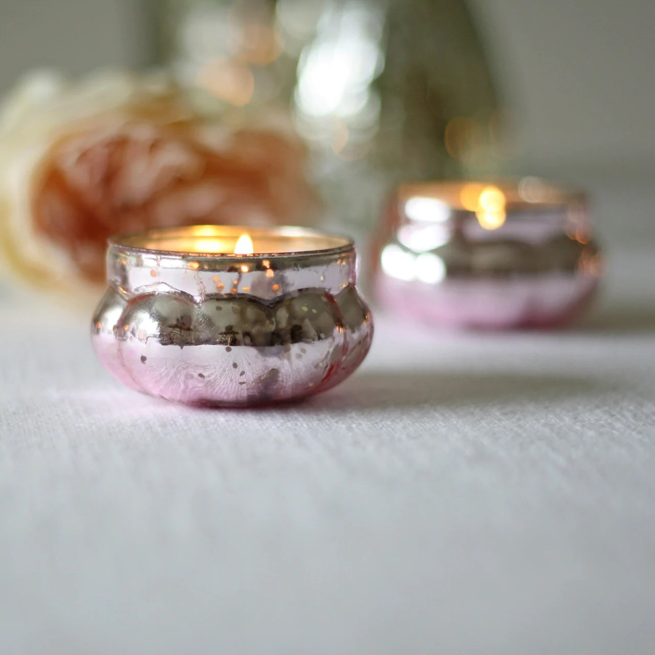 Mini Mercury Pink Floating Tea Light Holders – The Wedding of My Dreams