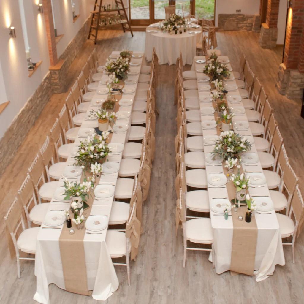 Hessian burlap table runner the wedding of my dreams
