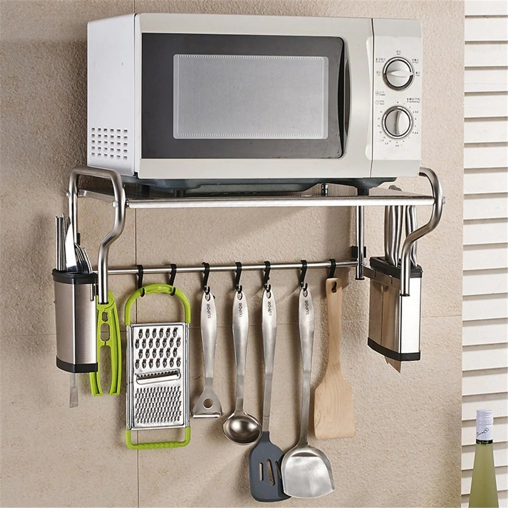 stainless steel microwave oven bracket