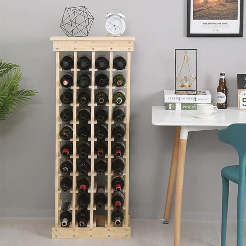 casier a bouteille bois 40 bouteilles