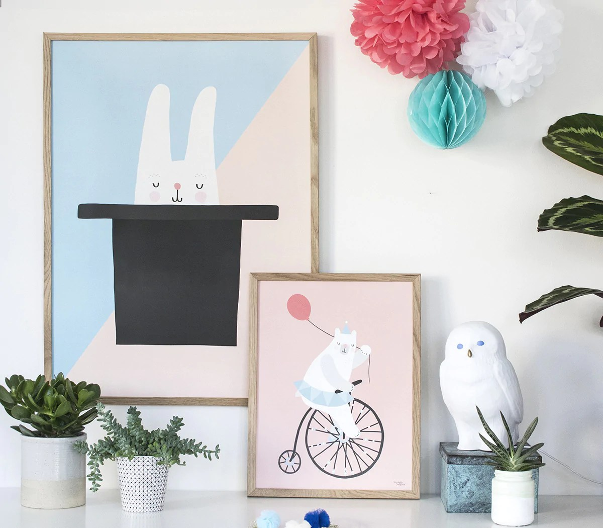 Cycling Bear - poster