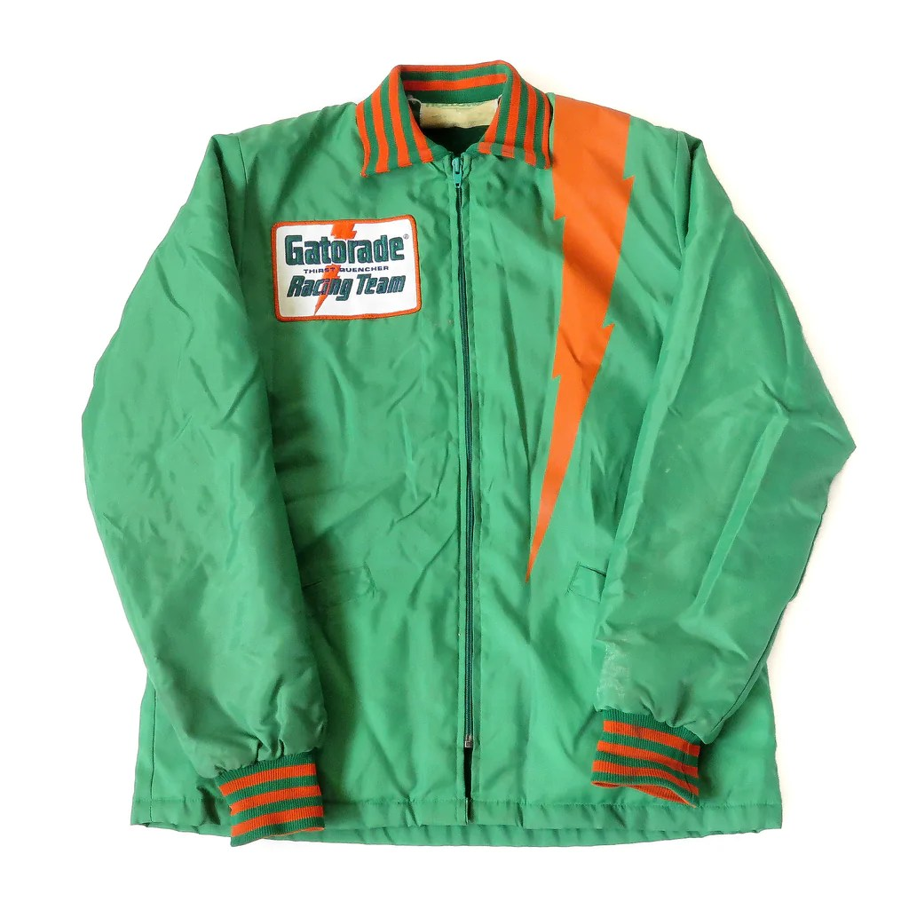 Vintage Gatorade Racing Team Jacket Sz Sgmc - Snap
