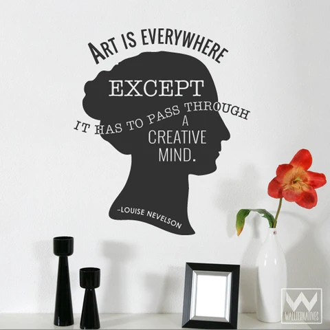 Art is Everywhere Quote Saying Home Vinyl Wall Decal Graphic Sticker  Wallternatives