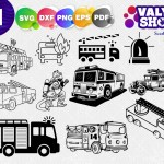 Fire Truck Svg File Fire Engine Svg Tree Farm Svg Cricut Svg Silho Clipartic
