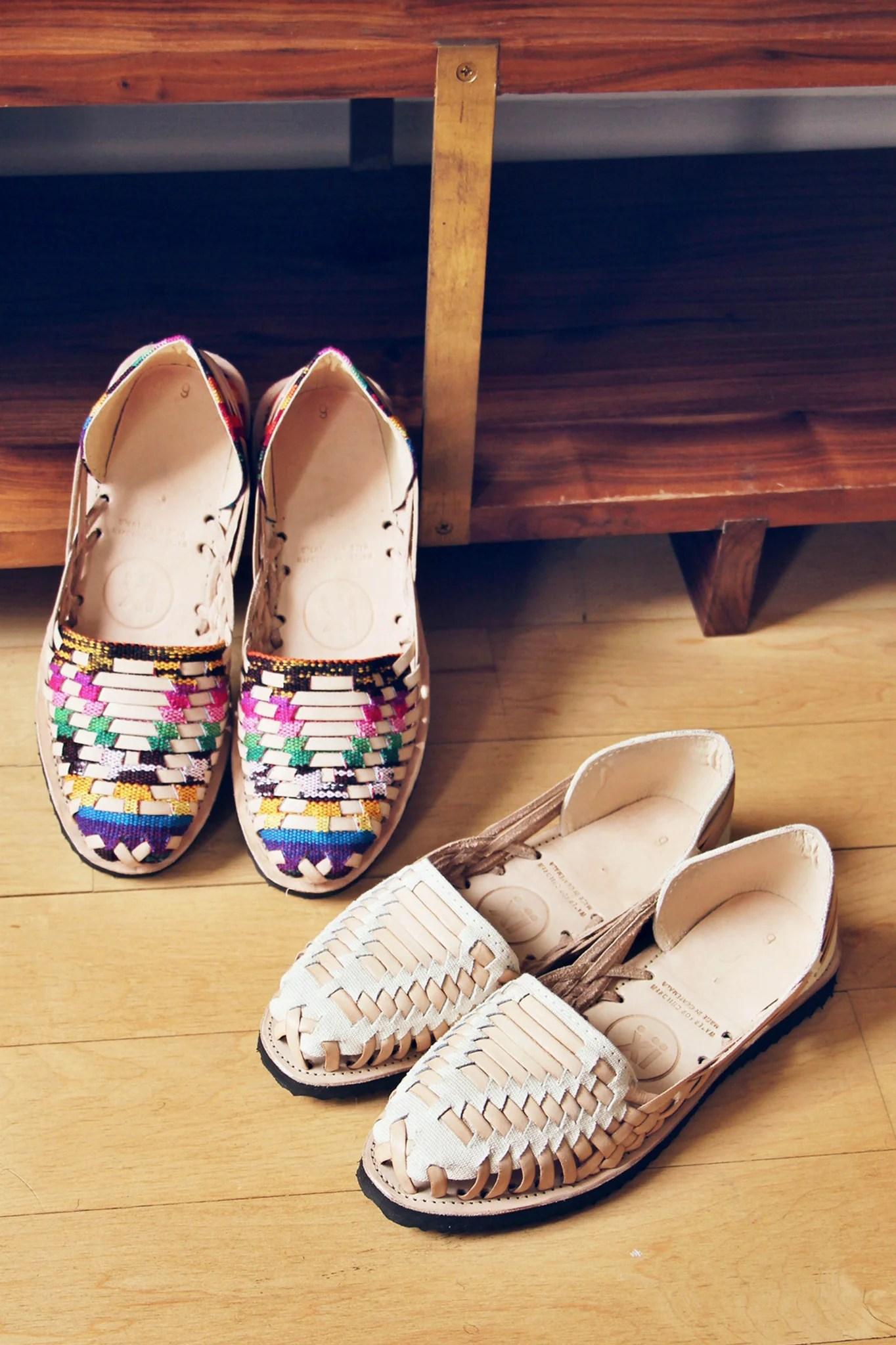 Traditional Mayan Woven Leather Huarache Sandals  Accompany