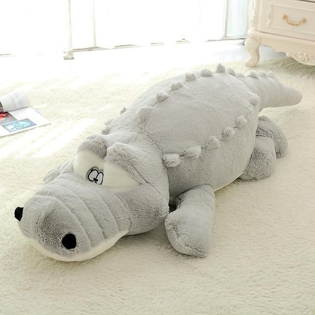 alligator crocodile stuffed plush body pillow toy
