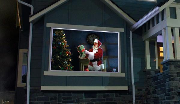 Window Projector Christmas Animated