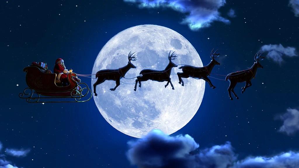 Santas Sleigh Ride AtmosFX Digital Decorations