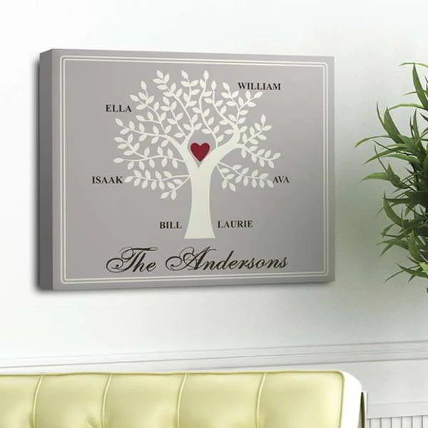 contemporary family tree personalized