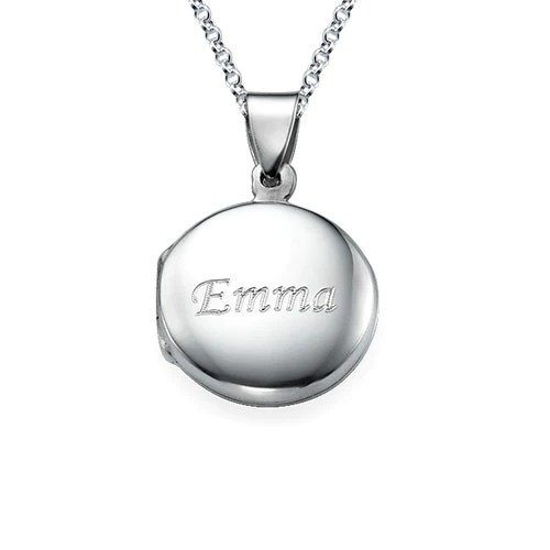 personalized round sterling silver