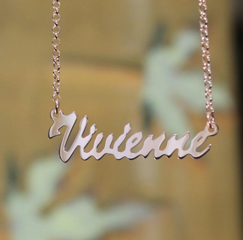 14k Gold Vermeil Plate Necklace - Kylie Jenner Monogrammed