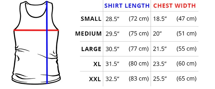 Standard tank top measurements if you love our unisex men   shirt will be your perfect match also sizing guide teeturtle rh