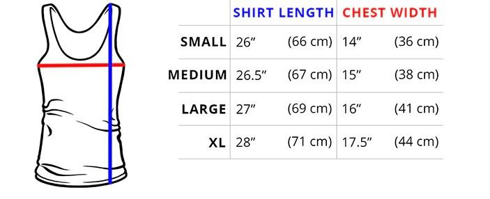 Women   tank top measurements also sizing guide teeturtle rh