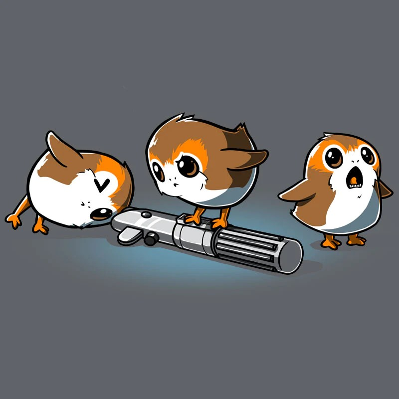 Curious Porgs T-shirt Official Star Wars Tee Teeturtle