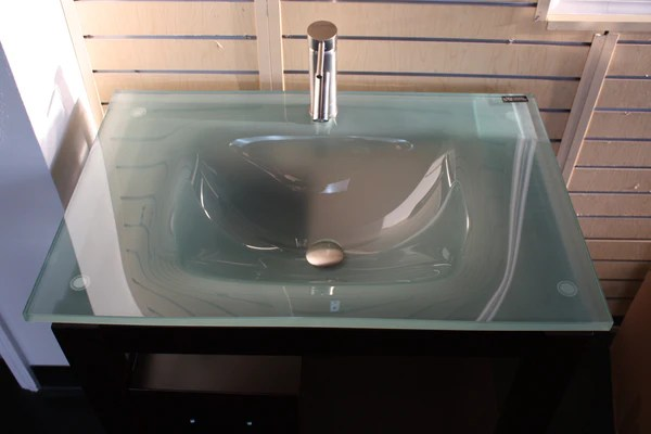21in Frosted Contemporary Modern Glass Vanity Replacement