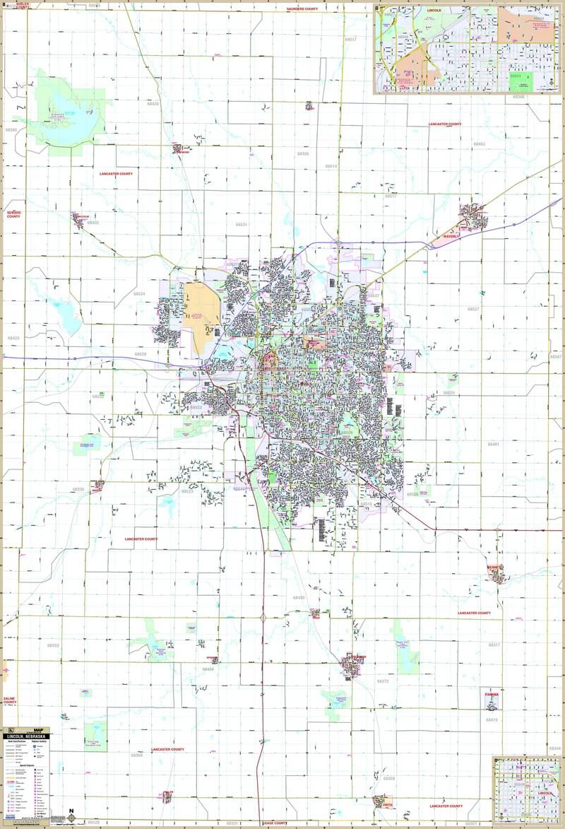 Lincoln Ne Zip Code Map : lincoln, Lincoln,, Maps.com.com