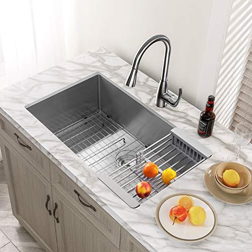 mensarjor 32 x 19 single bowl kitchen sink 16 gauge undermount sta directnine europe