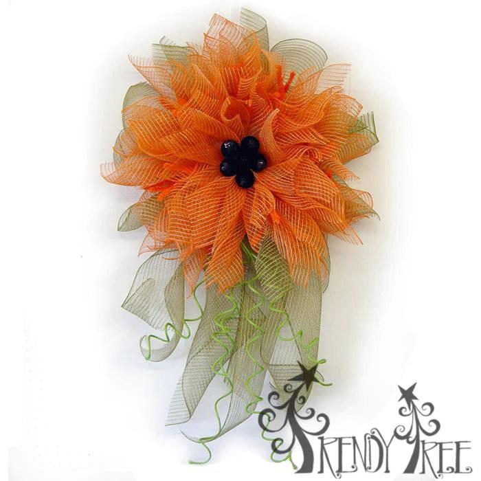 orange poly jute mesh flower video