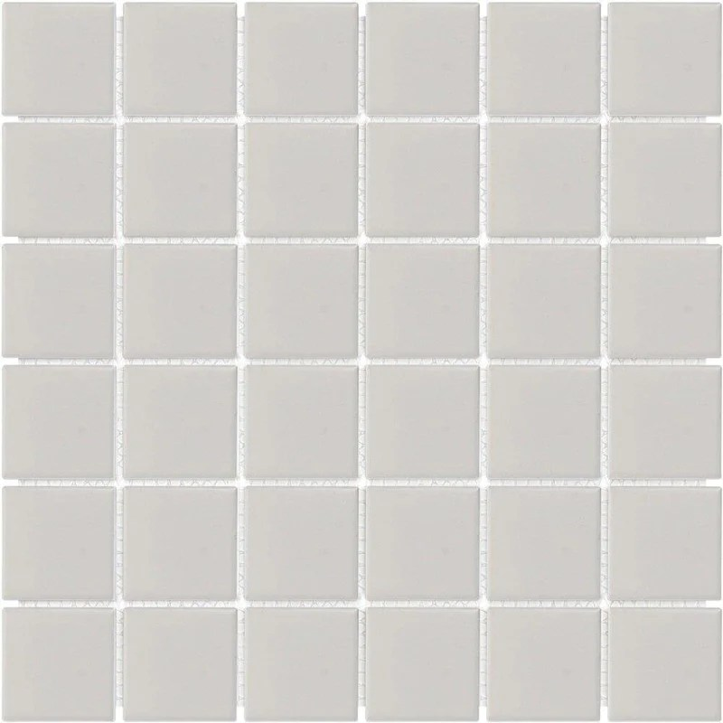 ceramic floor and wall mosaic tile grey matte 2x2