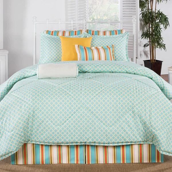 Grenada Coral and Aqua Comforter  American Made Dorm  Home