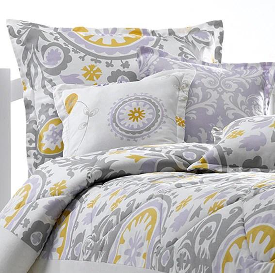 Lavender Amp Gray Suzani Duvet American Made Dorm Amp Home