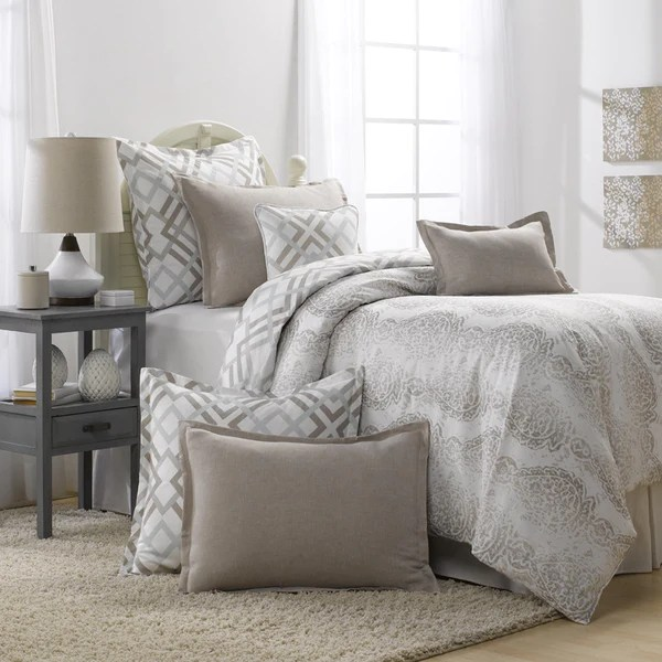 Grey and Taupe Bedding Set Duvet  American Made Dorm  Home