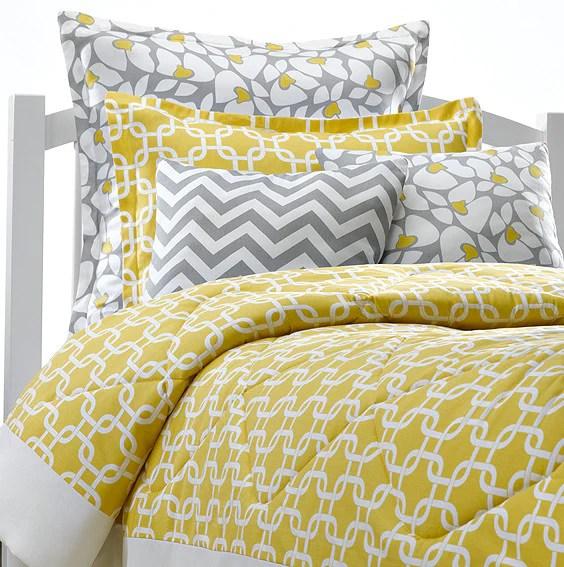 Yellow Metro Dorm Bedding  American Made Dorm  Home