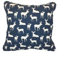 Navy Throw Pillows   Navy Woodland Pillows  American Made ...