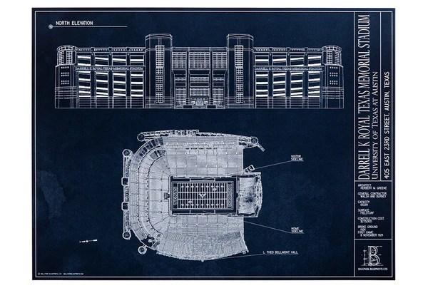 Darrell K Royal Texas Memorial Stadium  U Texas Austin  Ballpark Blueprints