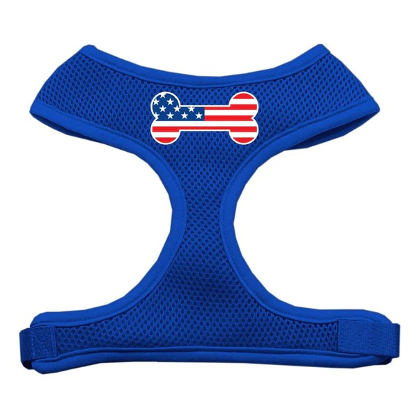 Mirage Soft Mesh Dog Harness USA Bone Flag 4 Paws